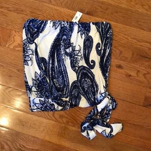 Strapless top NWT!